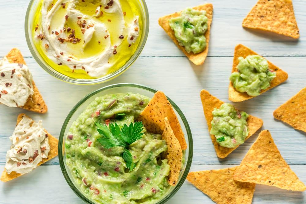 Favorite Party Dips: Creamy Avocado & Hummus (GF, DF, VG)