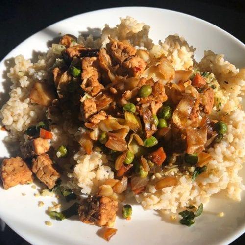 vegan vegetarian rice bowl