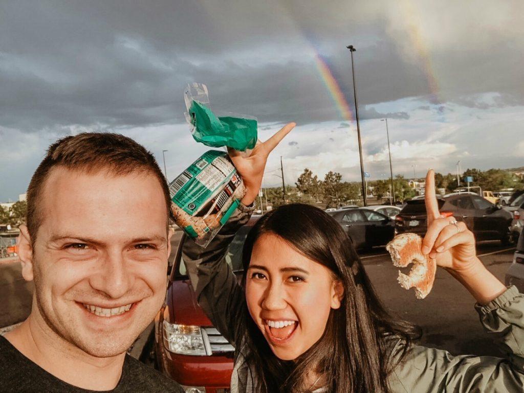 Double Rainbow Couple