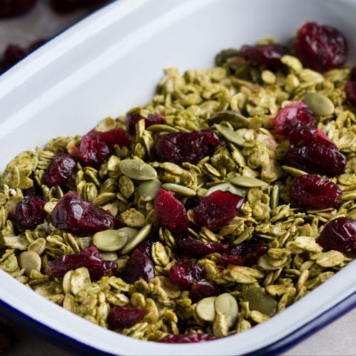 green tea cranberries pumpkin seed pepitas oats baking