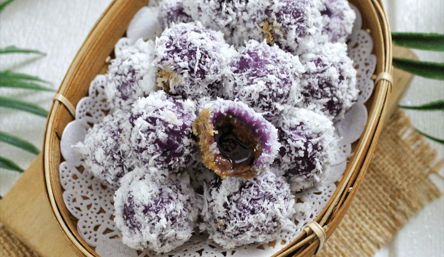 Purple Sweet Potato Klepon (Indonesian Sweet Rice Ball ...