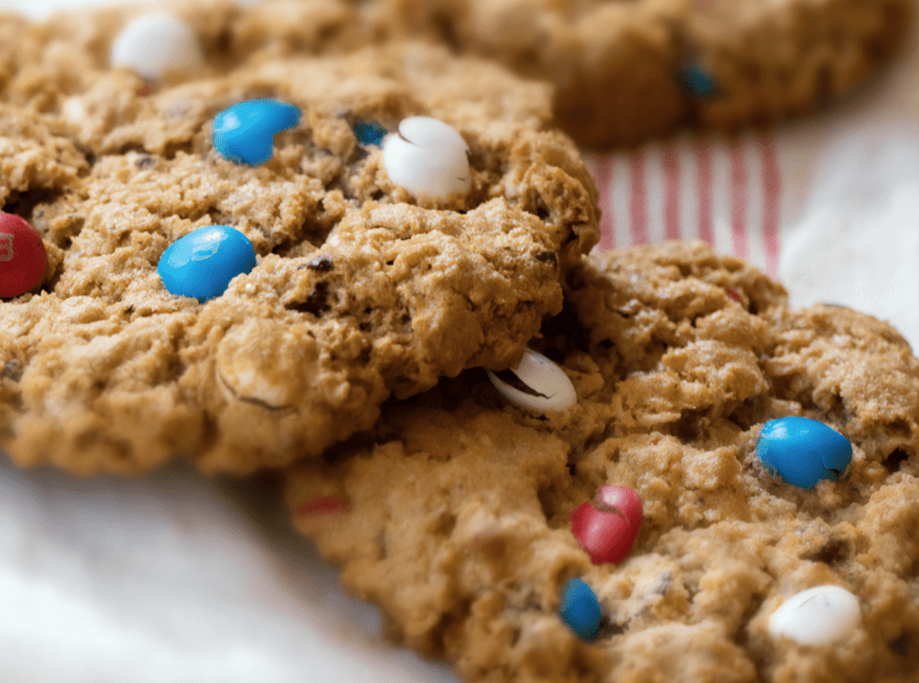 The Only 4th of July M&M Cookies You Need!