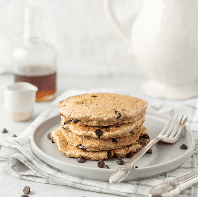 gluten-free dairy free banana eggs pancakes oats oatmeal chocolate chips