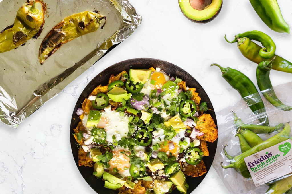 The Most Delicious Hatch Green Chile Chilaquiles (GF, V)