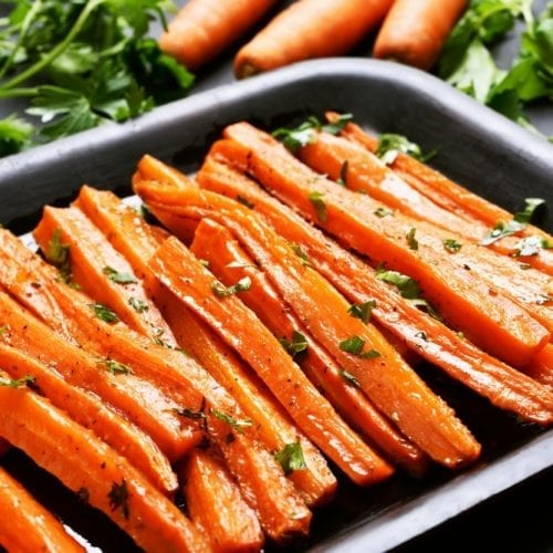 thanksgiving christmas side dish easy baby carrots brown sugar
