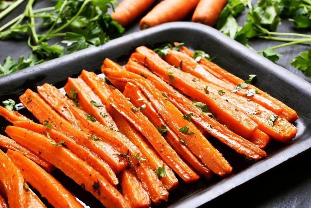 Simple & Delicious Maple Garlic Glazed Carrots (GF)