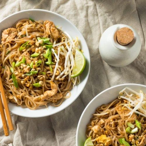 thai food recipes pad thai chicken vegetable gluten-free healthy dinner lunch