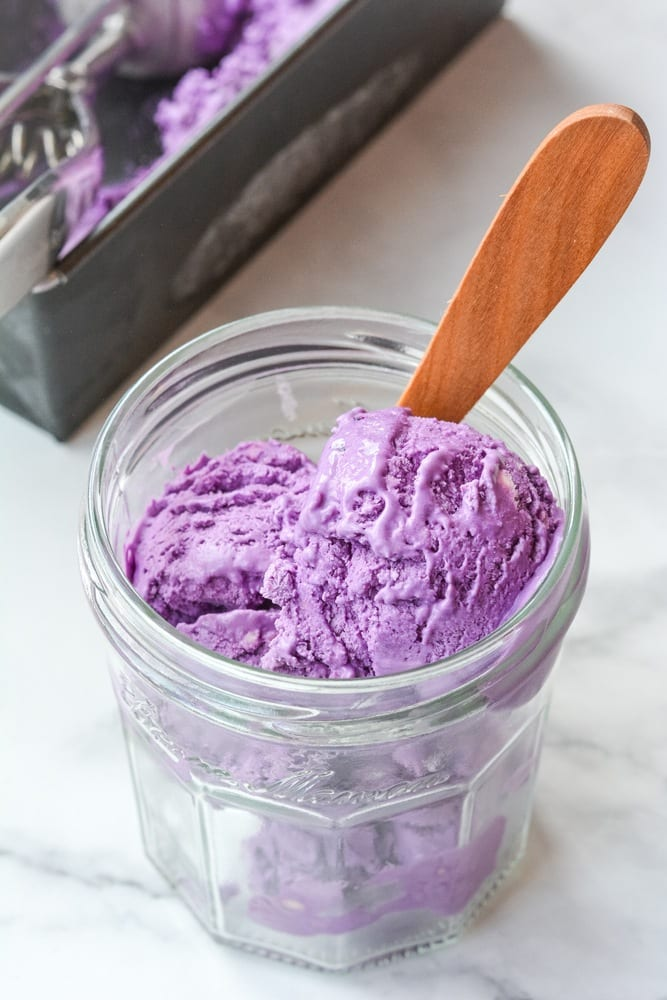 vegan gluten-free dairy-free purples stokes sweet potatoes ube yams ice cream coconut milk