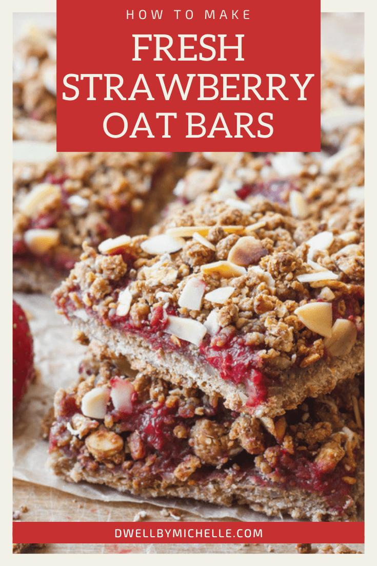 pinterest fresh strawberry oats oatmeal oat bars granola breakfast snack gluten-free dairy-free vegan healthy recipes recipe ideas almonds