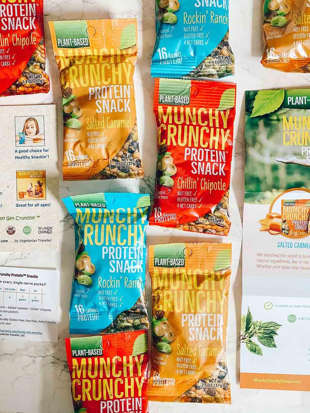 Honest Review: We Tried Munchy Crunchy Vegetarian Protein Snacks!