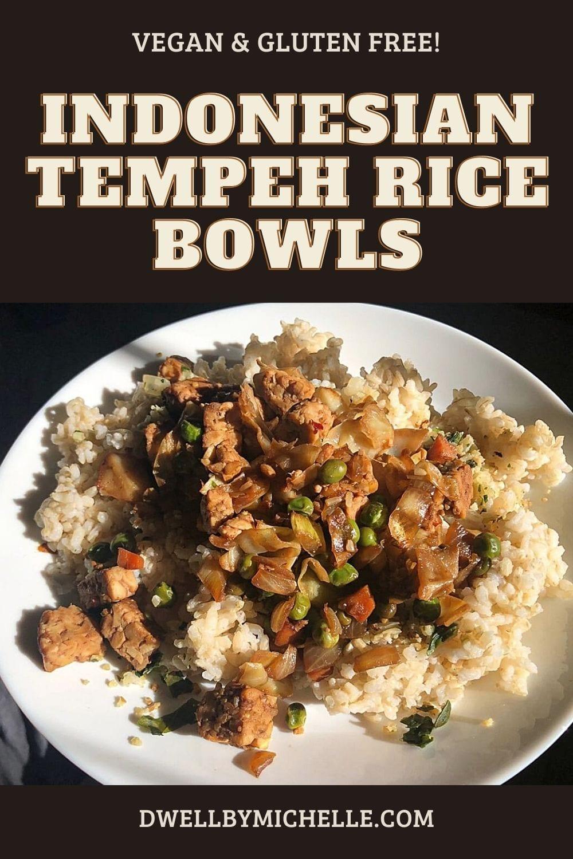 indonesian tempeh rice bowl recipes dinner vegan vegetarian protein easy meals
