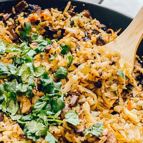 mushroom rice pilaf gluten-free vegetarian lunch recipes