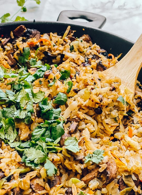 mushroom rice pilaf gluten-free vegetarian lunch recipes