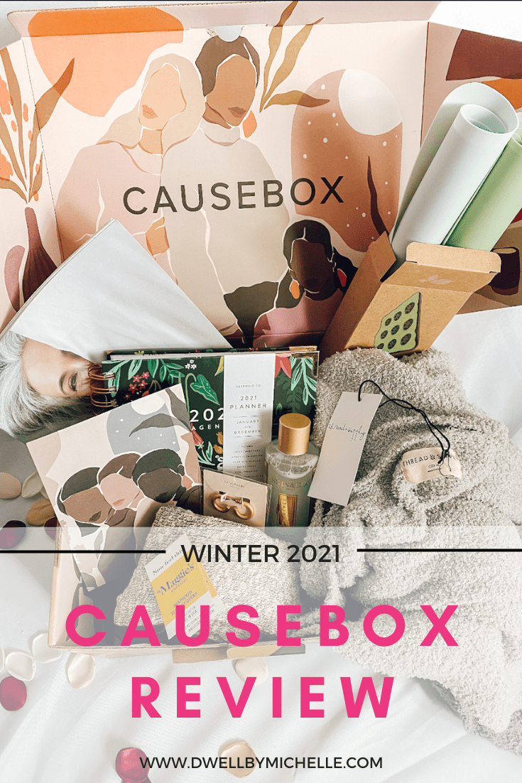 causebox winter quarterly seasonal subscription box annual member 2021 review honest products pin