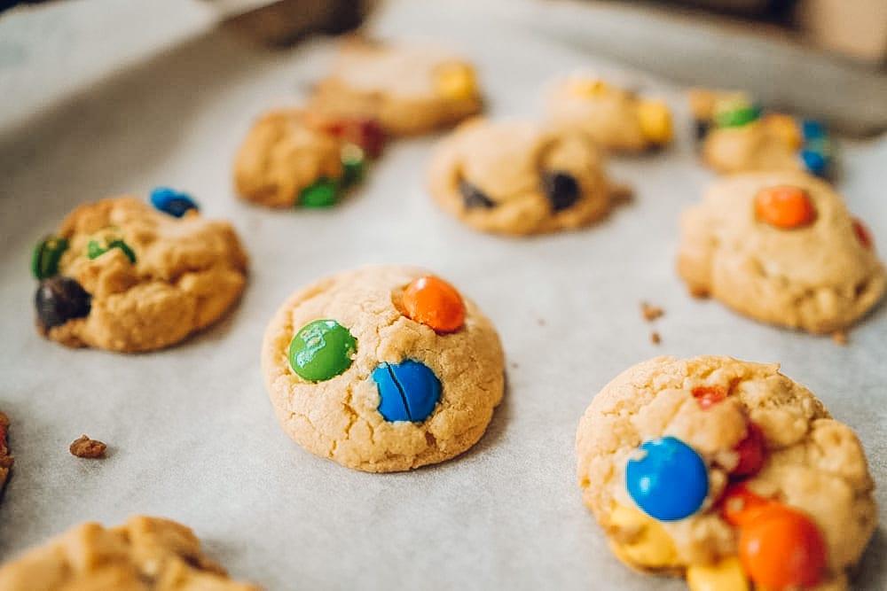 Grandma's Soft Peanut Butter M&M Cookies