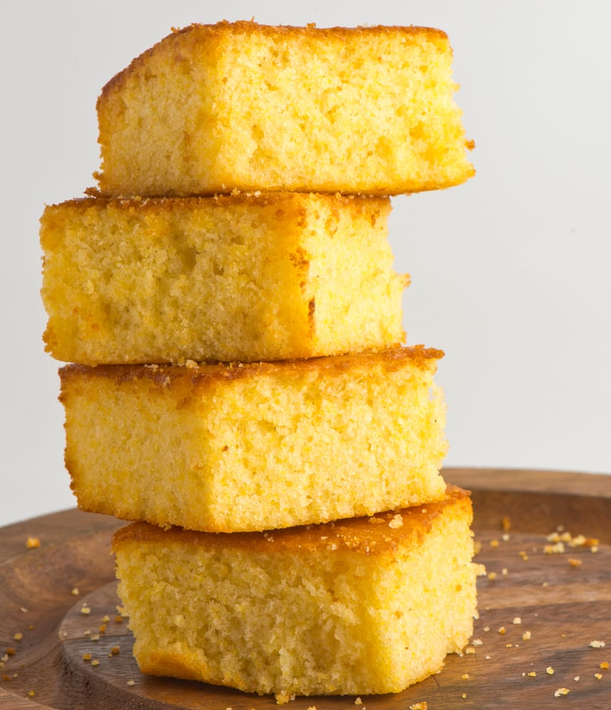 easy quaker cornbread recipe side dish stacked without butter or honey