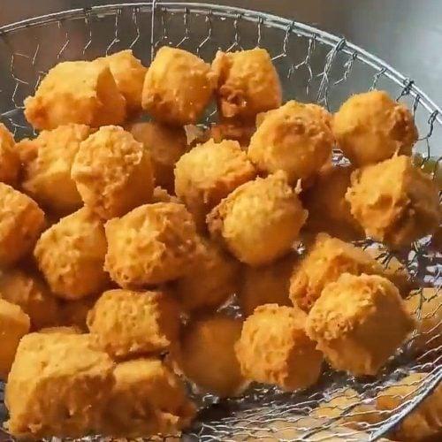 fresh fried tofu tahu goreng crispy indonesian